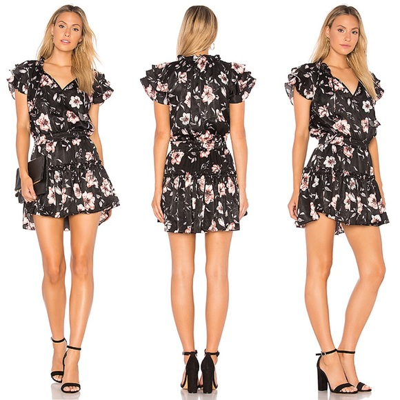 MISA LOS ANGELES Cecile Smocked Floral Dress 🌺